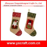 Christmas Decoration (ZY16Y147-1-2 42CM) Christmas Sock Design Craft
