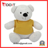White Custom Made Teddy Bear with T Shirt for Promotion