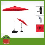 Red Color Aluminum Material Garden Umbrella