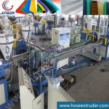 Double Two Output Exit PVC Spiral Reinfroced Suction Hose Pipe Extrusion machine Line with Spiral Haul-off Tractor Caterpillar and Barrel Type Rotating Winder