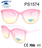 Italy High Quality Women Frame Plastic Sunglasses (PS1574)