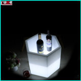 Color Changing Rechargeable White Plastic Outdoor Planter Flower Pot