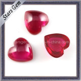 Smooth Heart Shape 5# Ruby Cabochon