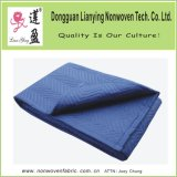 Wholesale Cheap Polyester Fleece Quilted Padded Red Felt Moving Blanket