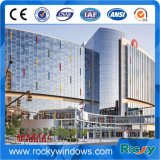 Aluminum Exterior Glass Curtain Wall for Building (offer installent if necessary)
