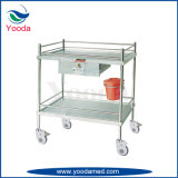 Hospital Stainless Steel Medical Trolley with One Drawer