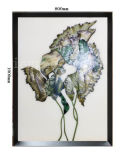 Charming Abstract Plants Oil Painting for Hotel Room Decoration