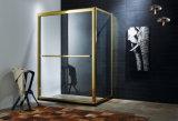 Aluminium Alloy Frame Double Sliding Showr Door Toughen Glass Shower Bathroom Door Screen