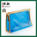 Wholesale Custom Fashion Transparent Glitter Makeup Bag Clean PVC Cosmetic Bag
