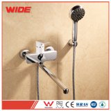 Cheap Wall Amount Bath Shower Set Long Spout Bath Mixer Faucet From Wide