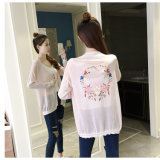 Fashion Women′s Cardigan Sweater, Thin for Spring and Autumn School Uniform Long Printing