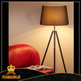 Tripod Black Paint Floor Lamp with Shade