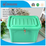 Colorful Plastic Storage Container Box with Wheels (192)