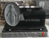 Black Granite Carving Headstone Stone Monument for Cetemery