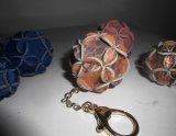 Popular Leather Tassel POM Flower Decoration Tassel Lady Keychain