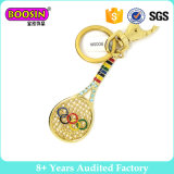 The Olympic Racket Metal Keychain for Promotional Gift Key Ring