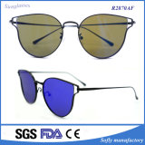 Wholesale Price UV 400 Copper Metal Flat Mirrored Lens Sunglasses