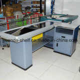 Full Metal Supermarket Used Cashier Currency Desk Checkout Counter