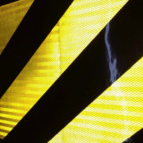Yellow Black Color Prismatic Slanting Reflective Sheeting for Traffic Safety