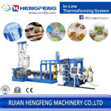 Inline PP PS Sheet Extruding Machine Automatic Plastic Extruder (HFSJ100/33-700B)