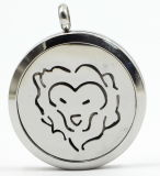 Aries 30rd Silver Stainless Steel Perfume Diffuser Locket Pendant