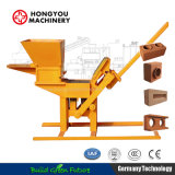 Hy2-40 Small Scale Industrie Manual Clay Interlocking Interlock Construction Building Material Brick Block Making Machine Machinery Equipment Price Manufacturer