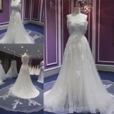 off Shoulder Beading Wedding Gown Wgf043