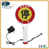 Rechargeable Stop LED Traffic Sign with Handle