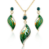 New Design Green Enamel African Fashion Pendant Jewelry Set
