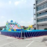 Frame Pool with Inflatable Water Slide