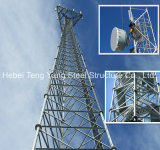 Free-Stand Lattice Steel Telecommunication Tower Triangular Tower