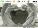 Natural Grnaite Stone Monument and Angel Sculpture Tombstone