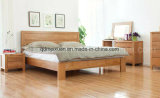 Solid Wooden Bed Modern Double Beds (M-X2283)