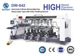 Heavy Duty Automatic Woodworking 6-Rows Boring Machine with Auto-Feeding