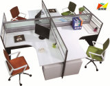2018 New Fashion Office Workstation 4 Seats Computer Desk