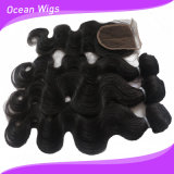 New Arrival 100% Indian Hair 8A Lace Closure and Hair Extension/Weft