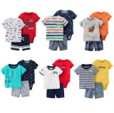 Summer Casual Cheap Kids Short Clothing Cute Baby Matching Sets Toddler Boys 3 Piece Carters Baby Clothes Set