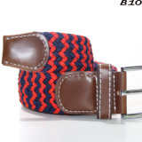 B10 2018 Colorful Casual Woven Stretch Men Braided Elastic Belt