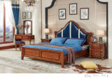 High Quality America Style Bedroom Furniture Wooden Bed (101)