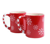 Branded Snowflake Ceramic Mugs - Set of 2