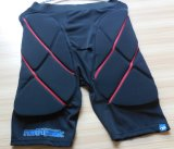 Fitness Lycra Short Pants with Padding for Men Women′s