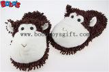Indoor Shoes Plush Stuffed Animals Puce Monkey Men/Women Comfort Slippers
