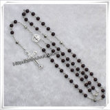 Glass Beads Rosary, Religious Rosary Beads (IO-cr289)
