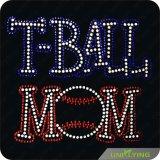 T-Ball Mom Rhinestone Bling Custom Hotfix Designs Manufacturer (SP)