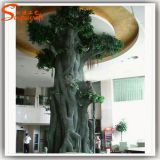 Hotel Decoration Evergreen Plastic Artificial Ficus Tree