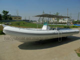 25feet Inflatable Rib730b Boat, Rescure Boat, Fishing Boat, Rigid Hull Boat, Hypalon