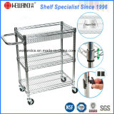 3tiers Adjustable Chrome Steel Baskets Rack Trolley