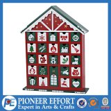 Wooden Advent Calendar House Design with 24 Drawers for Christmas Decoration