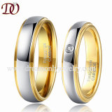 Shiny Domed Tungsten Carbide Wedding Ring