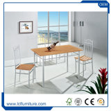 Solid Bamboo Particleboard Dining Table and Chairs Set